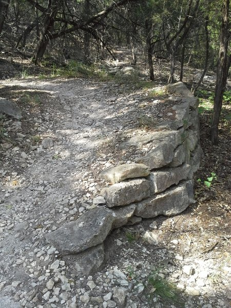 A beautifully built switchback along the Goodwater Loop