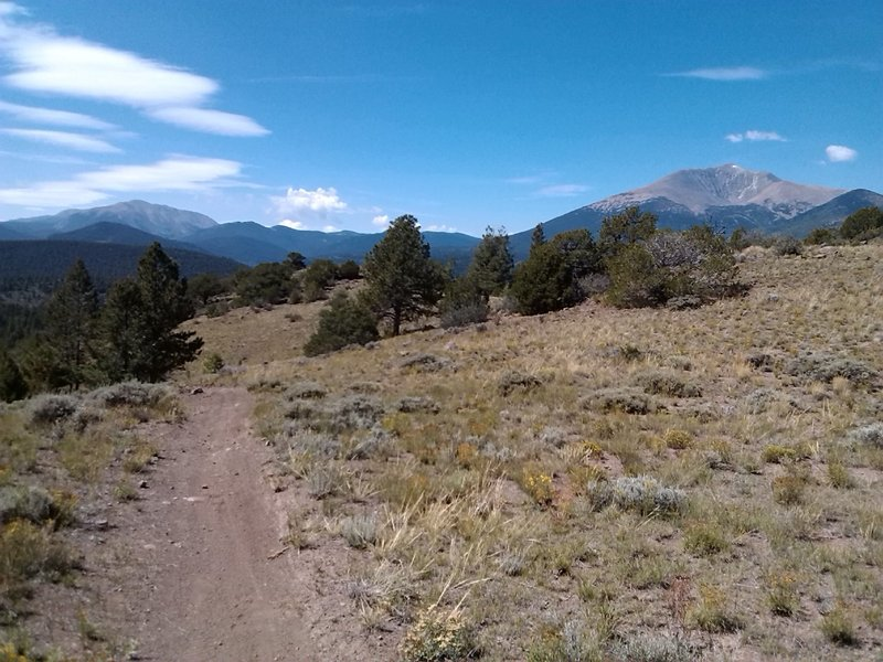 The view west to Mount Ouray and Sheep Mountain