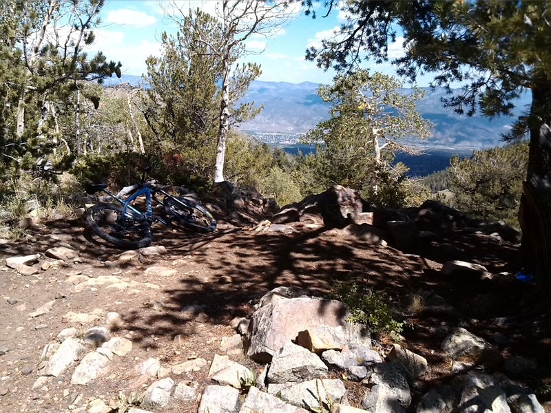 Salida in the distance.  Big elevation changes!