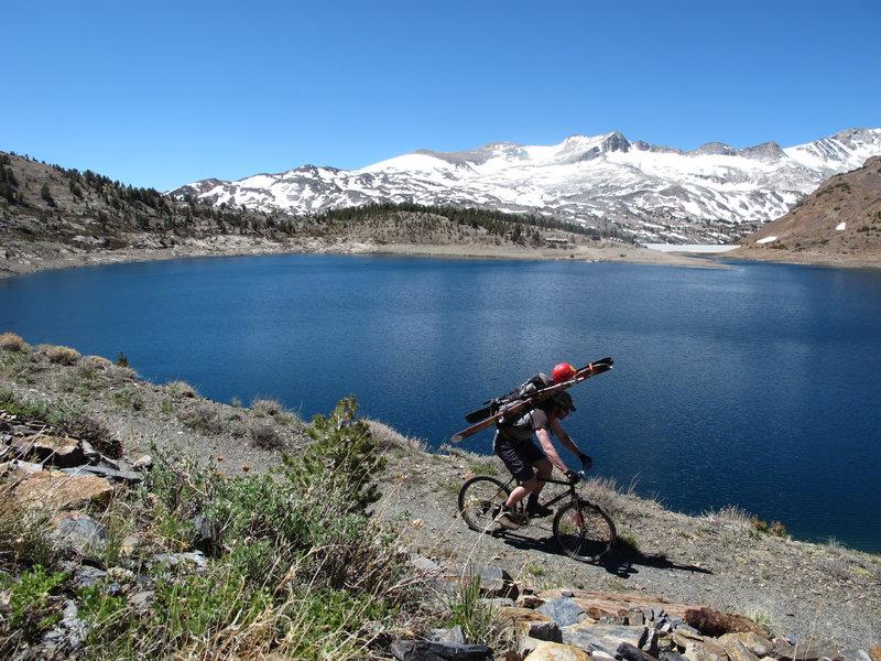 Over looking Saddleback Lake and Back Country ski session