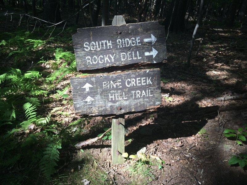 An original North Park trail sign!
