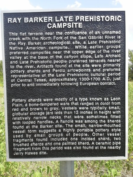 Historical Marker along the Goodwater Loop