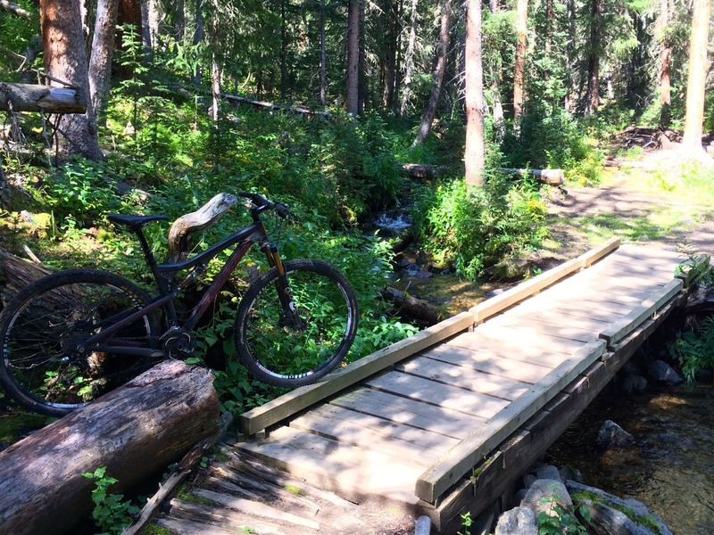 The Peaks Trail crosses many pretty little streams