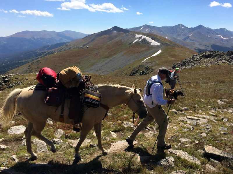 At the top - 12,500'! - you'll probably meet other CO Trail users