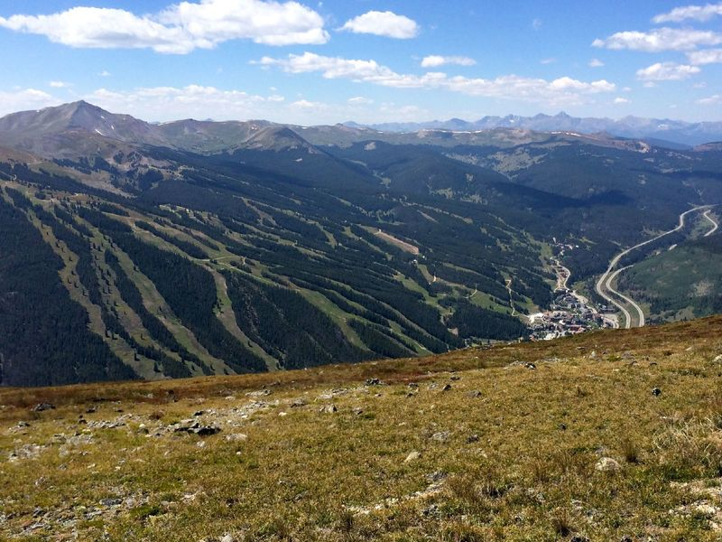 Having made it over the pass, the ride down to Copper Mountain is fast and easy.