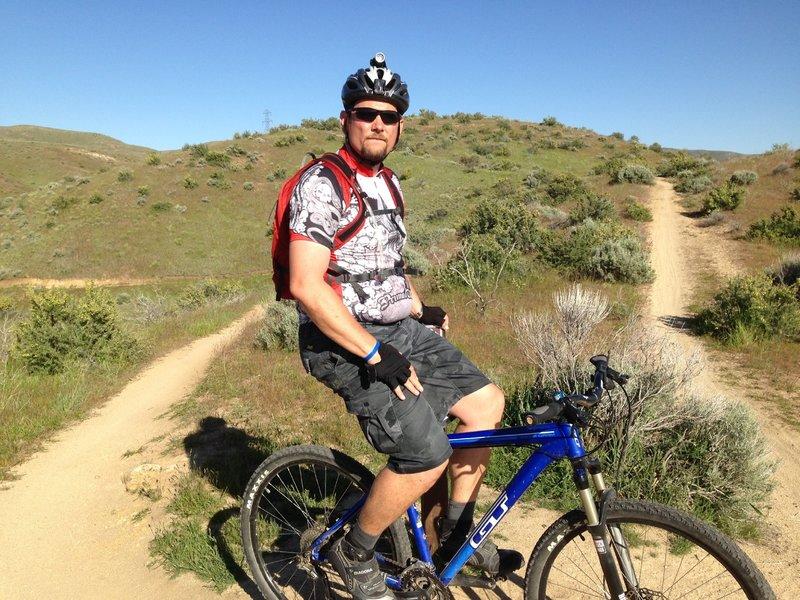At the top of Freestone Ridge
