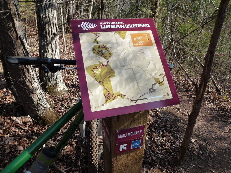 Typical trail signage at trailheads.