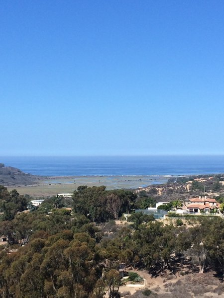 View of the Pacific Ocean.