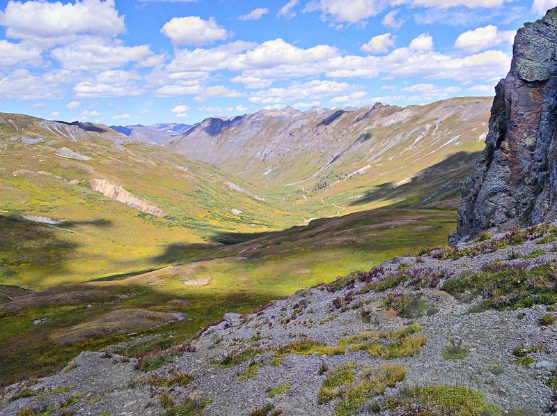 Looking north down into Maggie Gulch