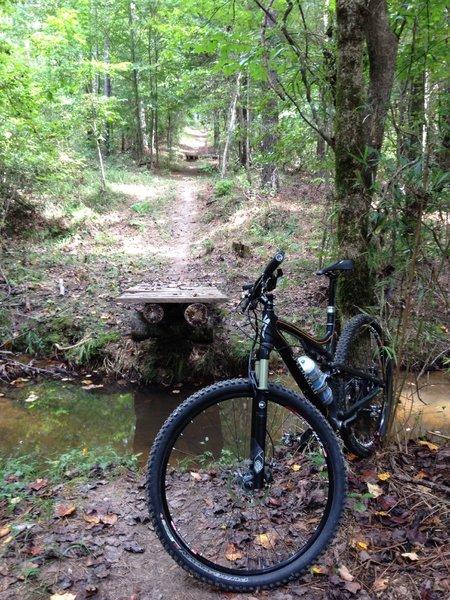 New creek jump just before Big Enoch Hill
