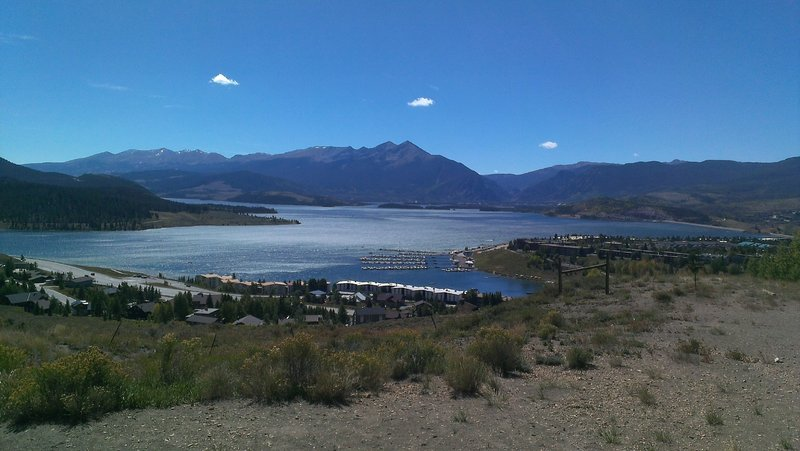 Breathtaking views of Dillon Reservoir and the Ten Mile Range from Oro Grande Trail