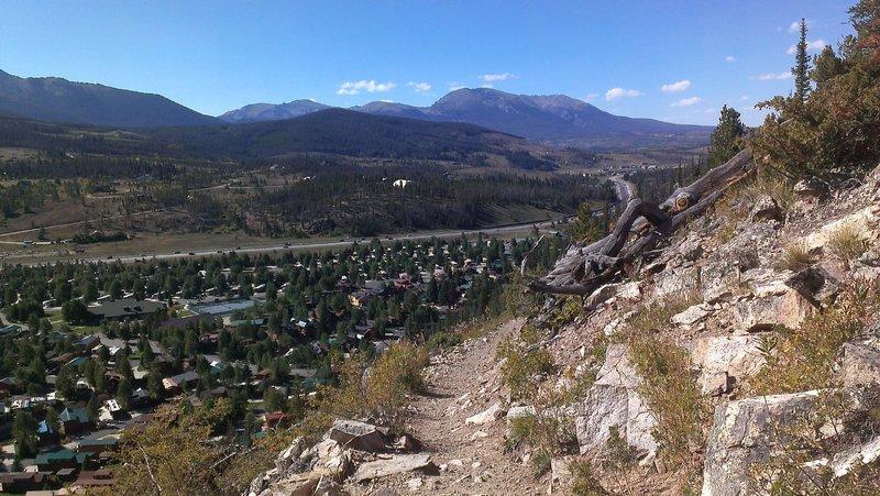 Colorado Trail above Tiger Run RV Park