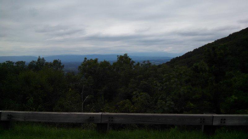 Overlooking Valley Below BRP