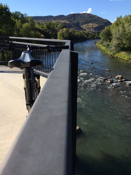 The Animas River Trail offers spectacular views along the river.