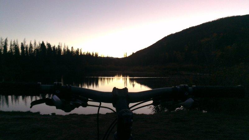 Early morning at Rainbow Lake