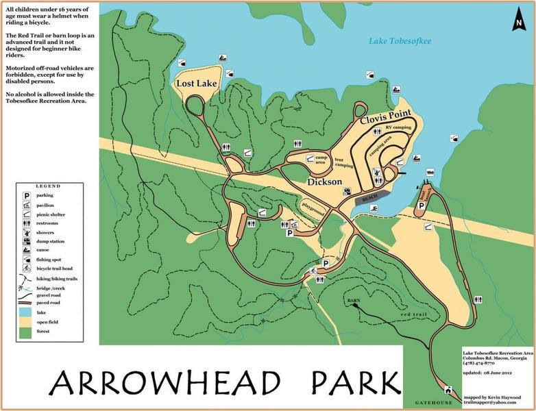Park map.  It does not show the new loop, which would be on the right side of the map.
