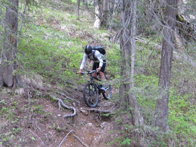 Dropping off the ridge