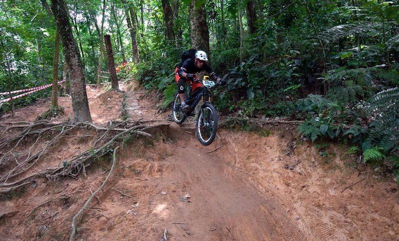 """Triple Terrace"" on ""Around The Mountain"" trail in Bukit Kiara, Malaysia"