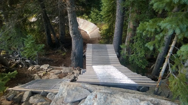 First section of ramp on Psycho Rocks
