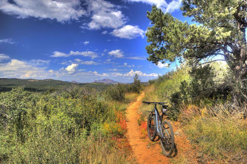 View of Granite Mountain heading back on Salida Gulch Trail
