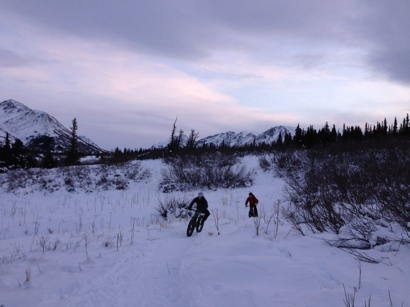 Very rideable in the winter!  If you're first after a fresh snowfall you'll have to pack it down, but the trail sees enough use that it generally stays packed.