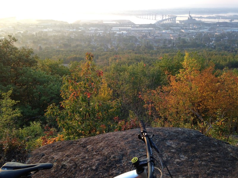 Scenic overlook of the Duluth/Superior harbor.