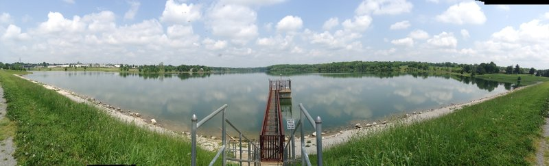 View from the dam at the south end of Freeman Lake