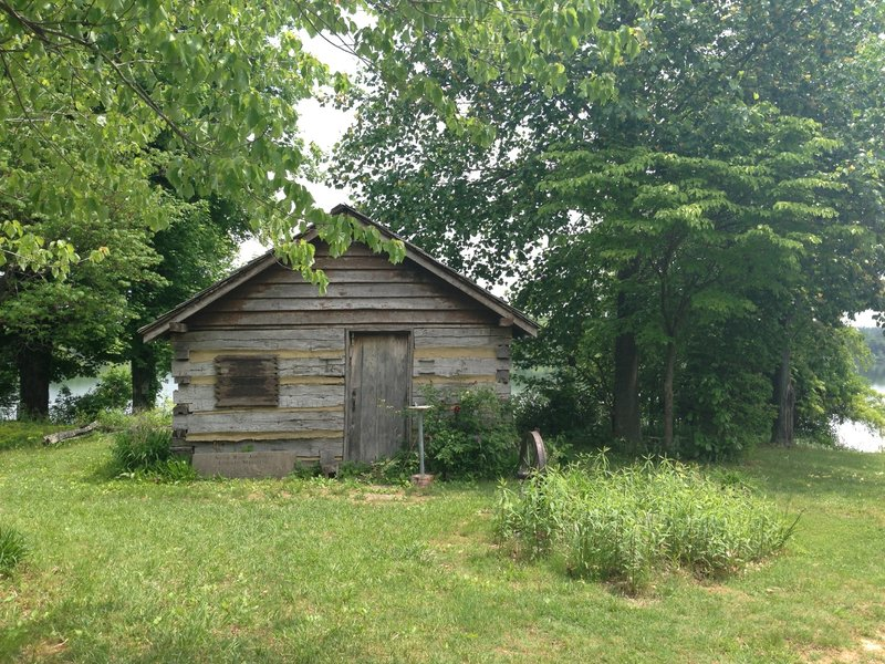 Lonely log cabin along the lake- Freeman Lake Greenbelt Trail