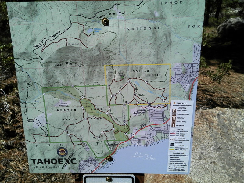Some of the great signage and the trails to take beyond this one.