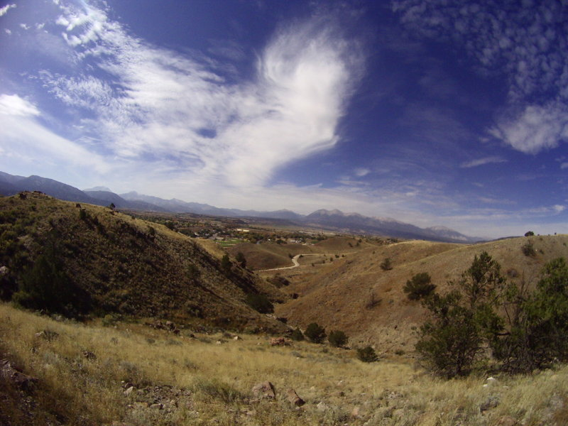 Lil Rattler- nice riding trail with knock-out views of Salida and beyond!