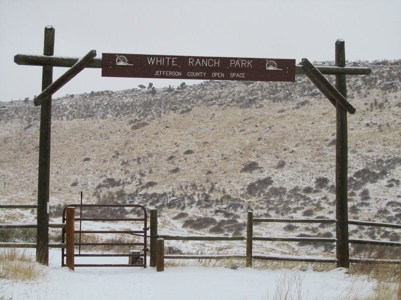 The gate into White Ranch