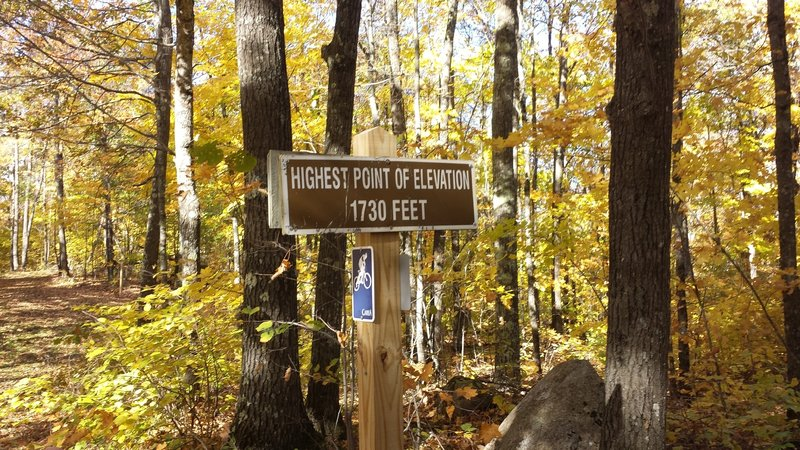 """High Point"" on the American Birkebeiner trail"