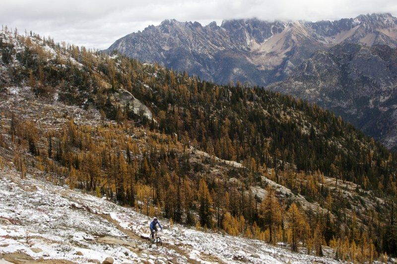 Nearing the pass, October 2014