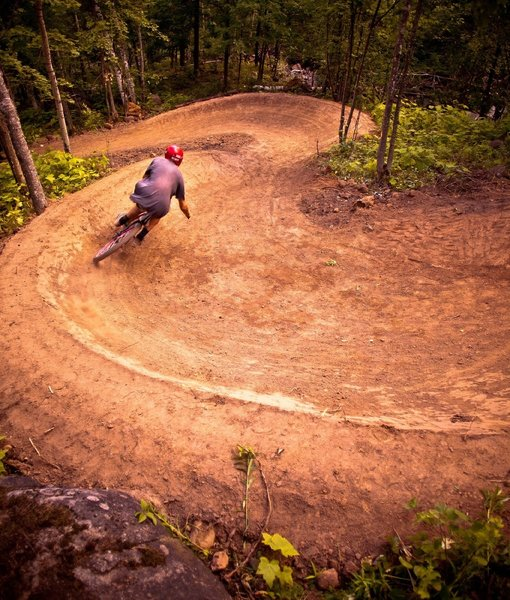 Berms on Happy Camper (Photo by Hansi Johnson - used with permission)
