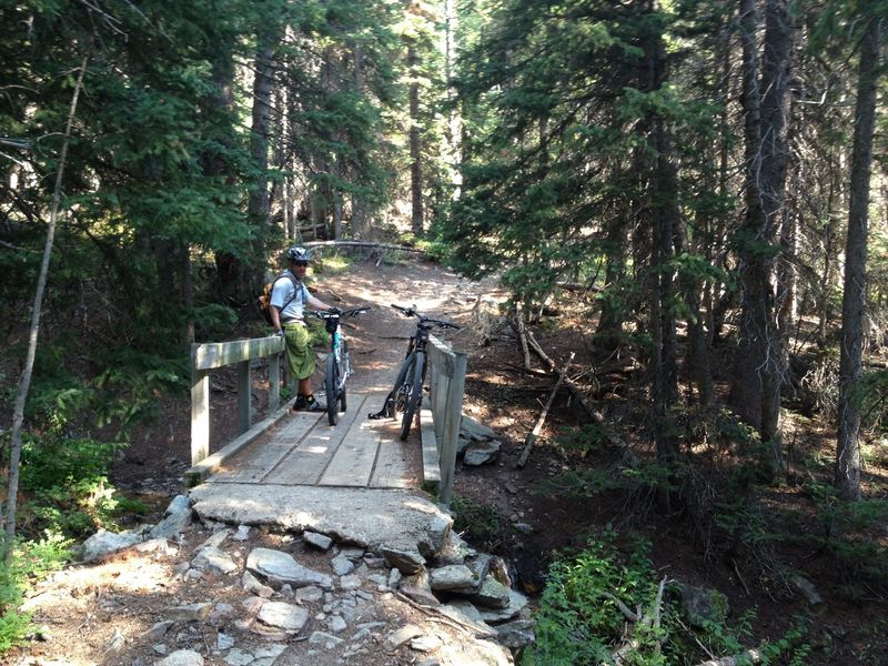 Bridge crossing and a good rest on the Sourdough Trail