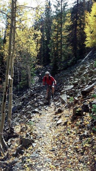 Rocking the talus on Rock Creek Trail
