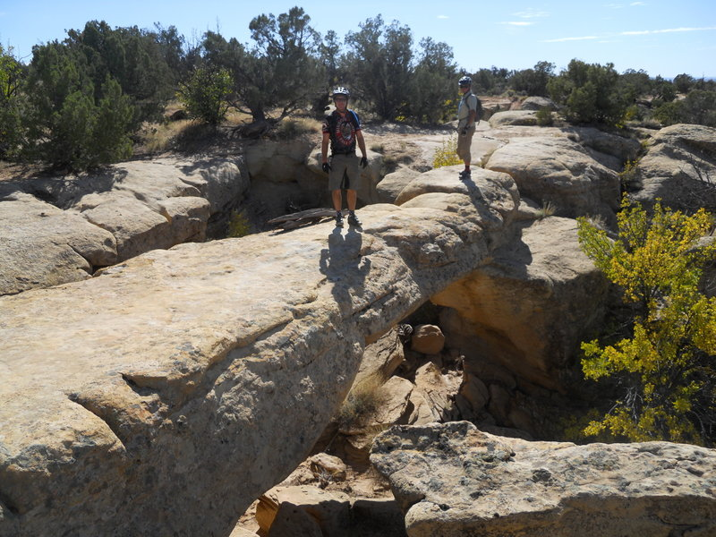 Westwater Arch Loop - natural bridge. Ride it if you dare!