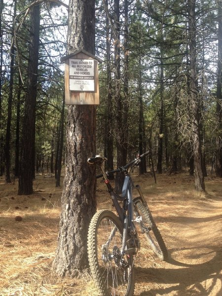 Bike and hikers only!