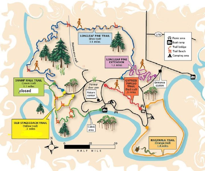 A map I found online of the complete trail system.