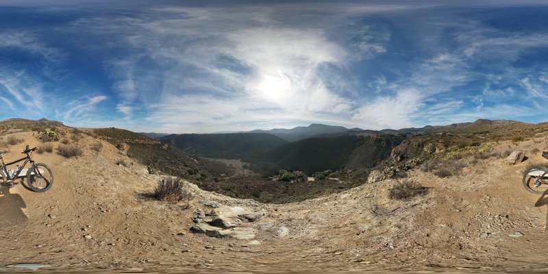 Full 360 panorama from a view point adjacent to Western Plateau Trail.