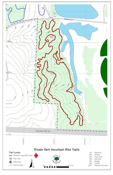 Topo map of the red loop.