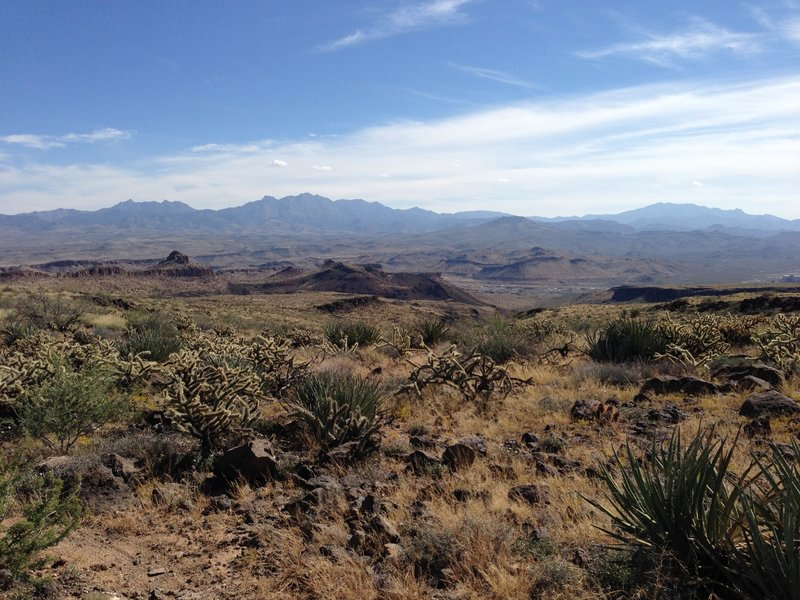 Looking east at the Hualapai mountains