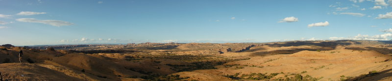 Pano view of the area from the Slickrock Trail