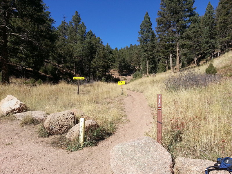 Turnoff for Trail 715