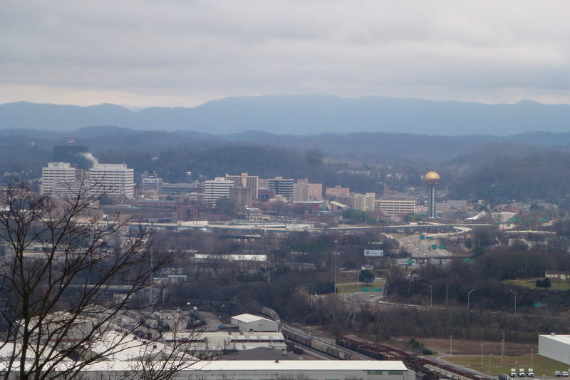 Overlooking Knoxville from the west end of the park.