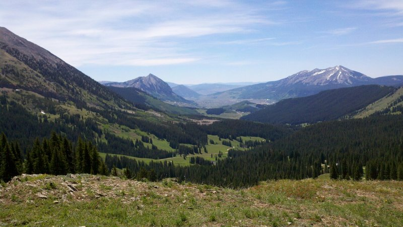 Views of Gothic Peak, Mt. Crested Butte and Whetstone Peak
