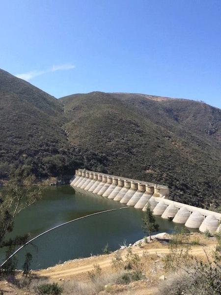 Lake Hodges Dam.