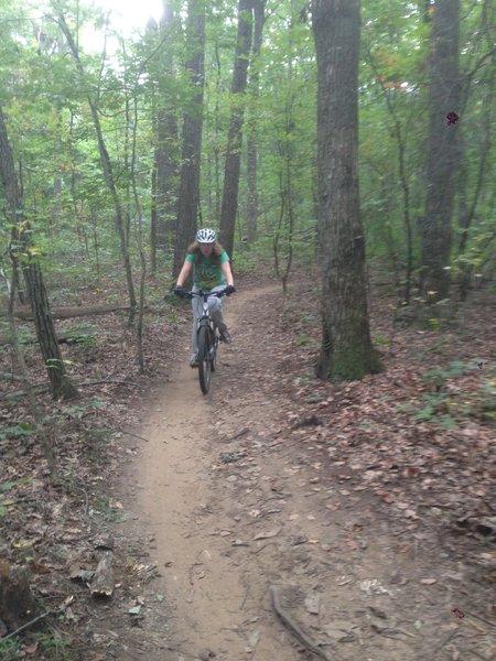 Biking the Family Bike Trail.