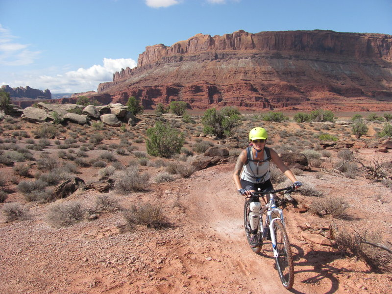The beautiful scenery of Moab. These are great trails for those in your fam who perhaps aren't ready to rip on some of the longer trails...