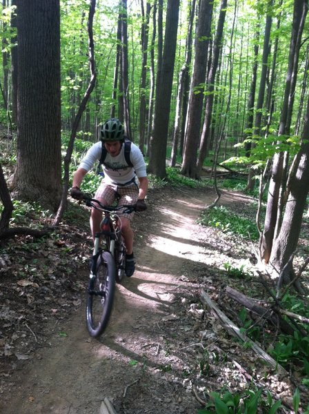 Taking a quick ride on our localest trail. Hopefully with the great success of this trail the Cleveland Metroparks will be building (and allowing us to build) many more trails of this same high quality.